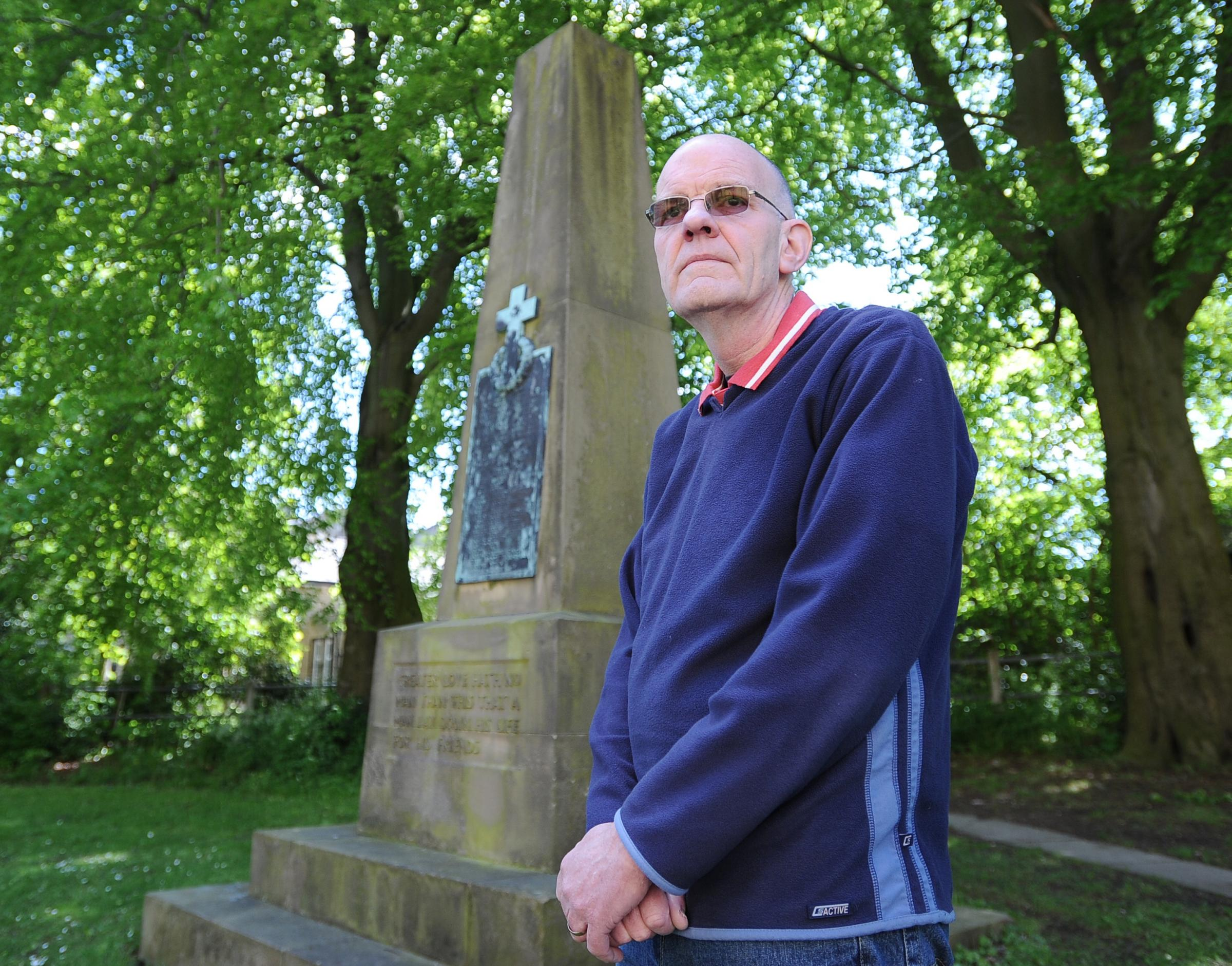 Colin Coates, who is researching details of Saltaire men who fought in the First World War