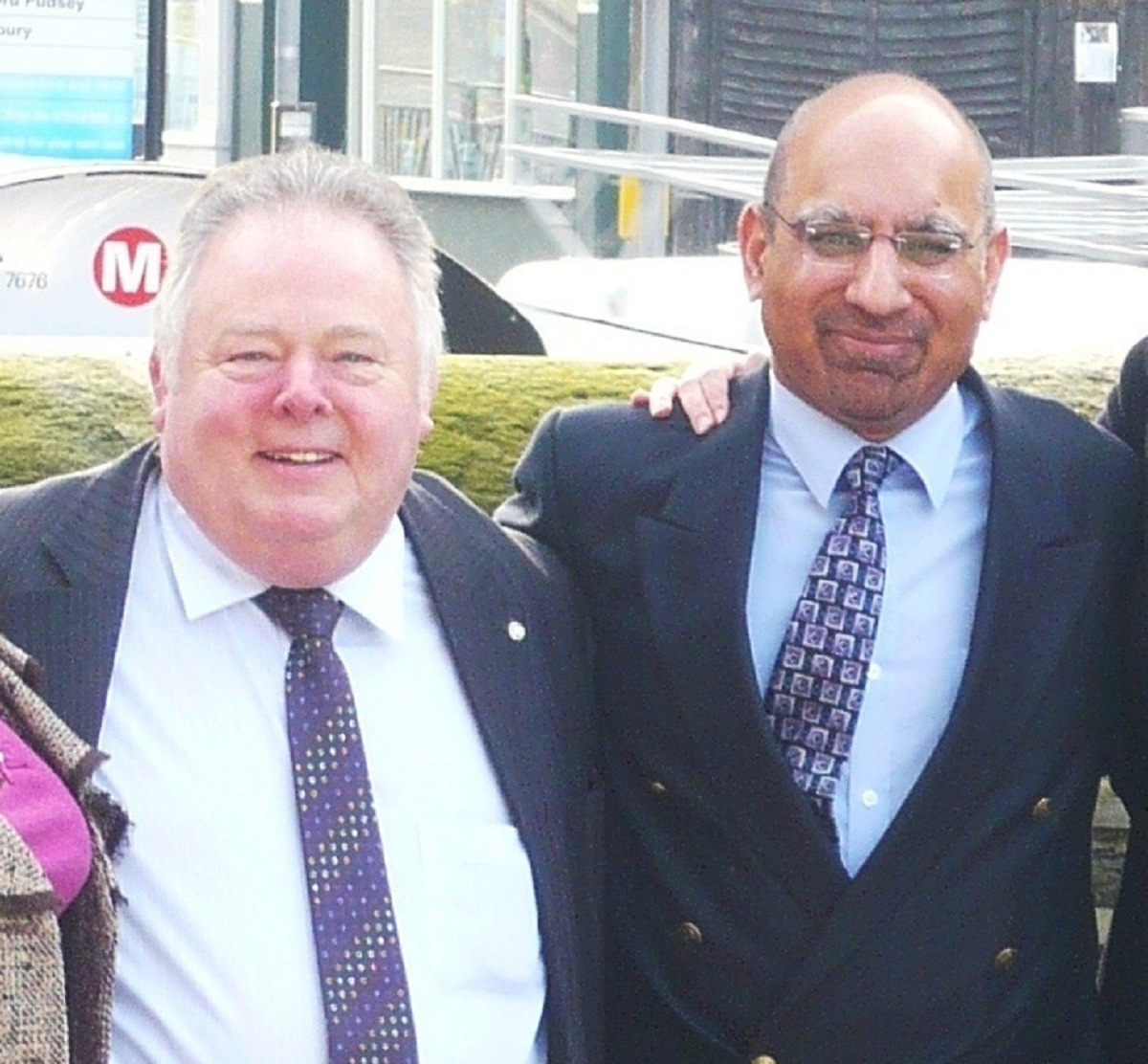 Keith Madeley, left, with Zulfi Hussain
