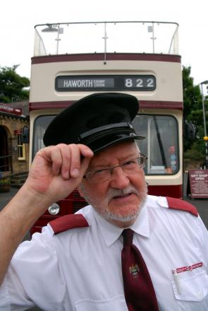 Tour bus driver Graham Mitchell with his bus