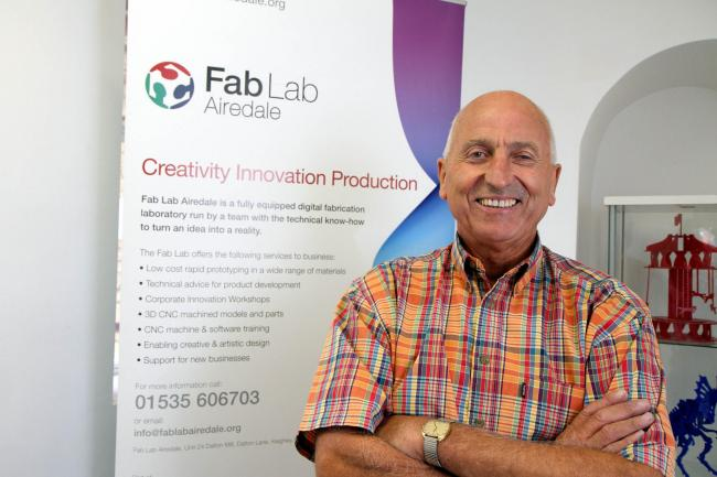Director Mick Milner in the Fab Lab at Keighley, which he believes could transform the future of industry in the town