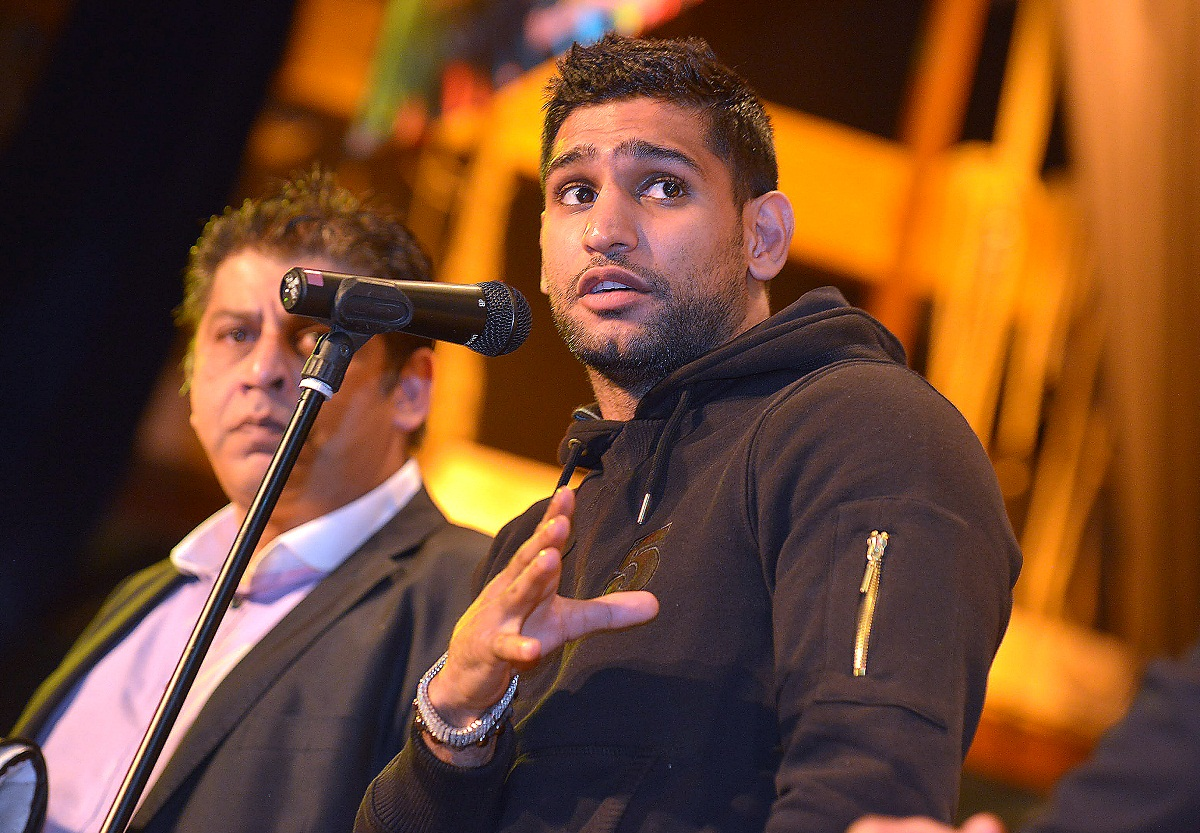 Amir Khan at the Keighley auction tonight