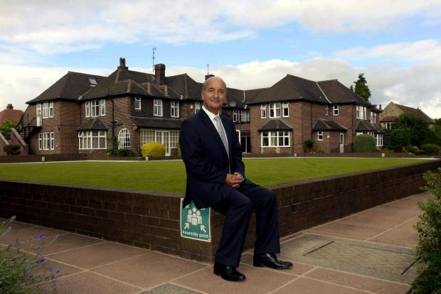 Bradford Telegraph and Argus: Managing director of Czajka Care Group, Konrad Czajka, outside his Fairmount Park, Nab Wood, care home complex