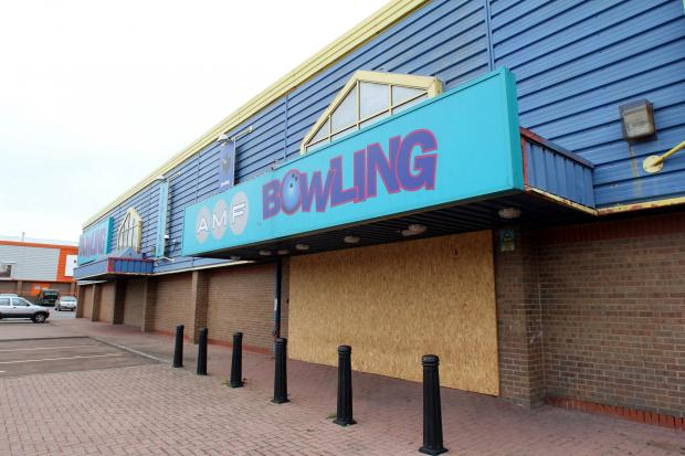 The former AMF Bowling site that is to become a Dunelm Mill store