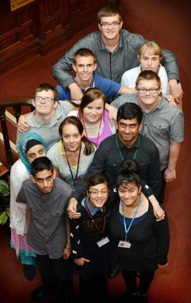 Some of the Project SEARCH interns who are proving a success in their new roles at Bradford Royal Infirmary