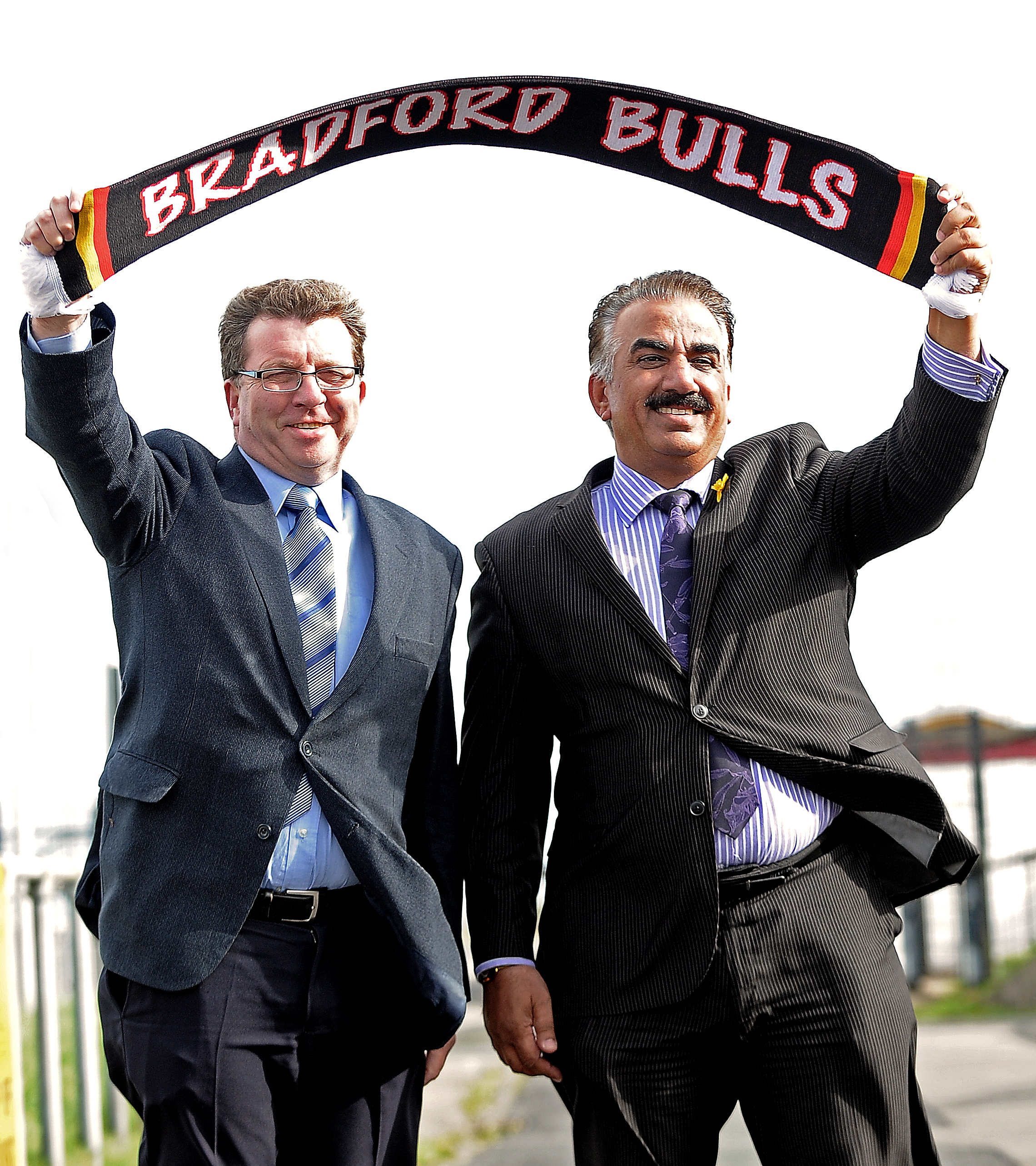 Omar Khan, pictured with co-chairman Gerry Sutcliffe MP, saved the club from oblivion when he took over a year ago