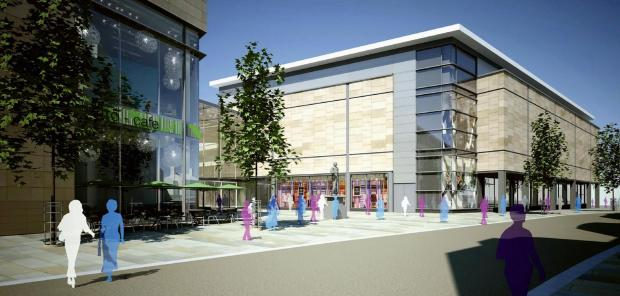 An artist's impression of the Westfield centre, from Forster Square