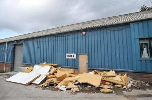 The industrial unit in Bowling Back Lane that was raided