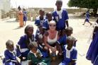 Teacher Tracey Askham in The Gambia