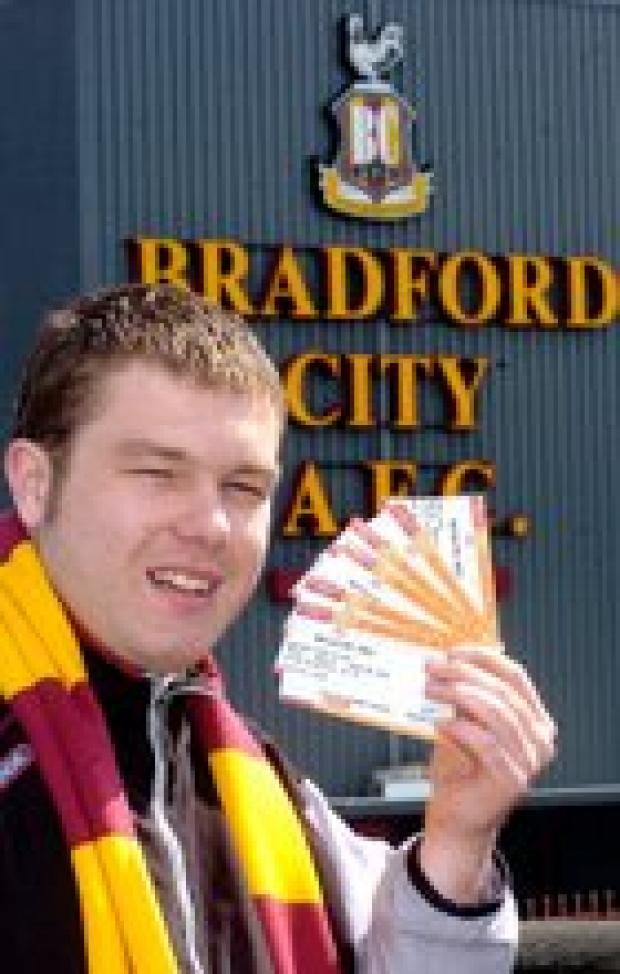 Bradford Telegraph and Argus: City ticket office manager Matthew Hartley