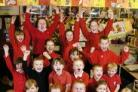 Foxhill Kids Club children cheer the news of their Ofsted report