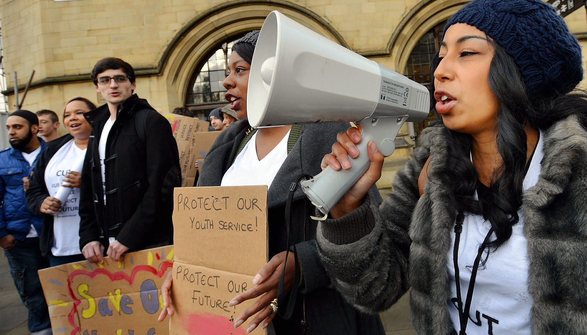 Protests about cuts in youth services were listened to by the Council