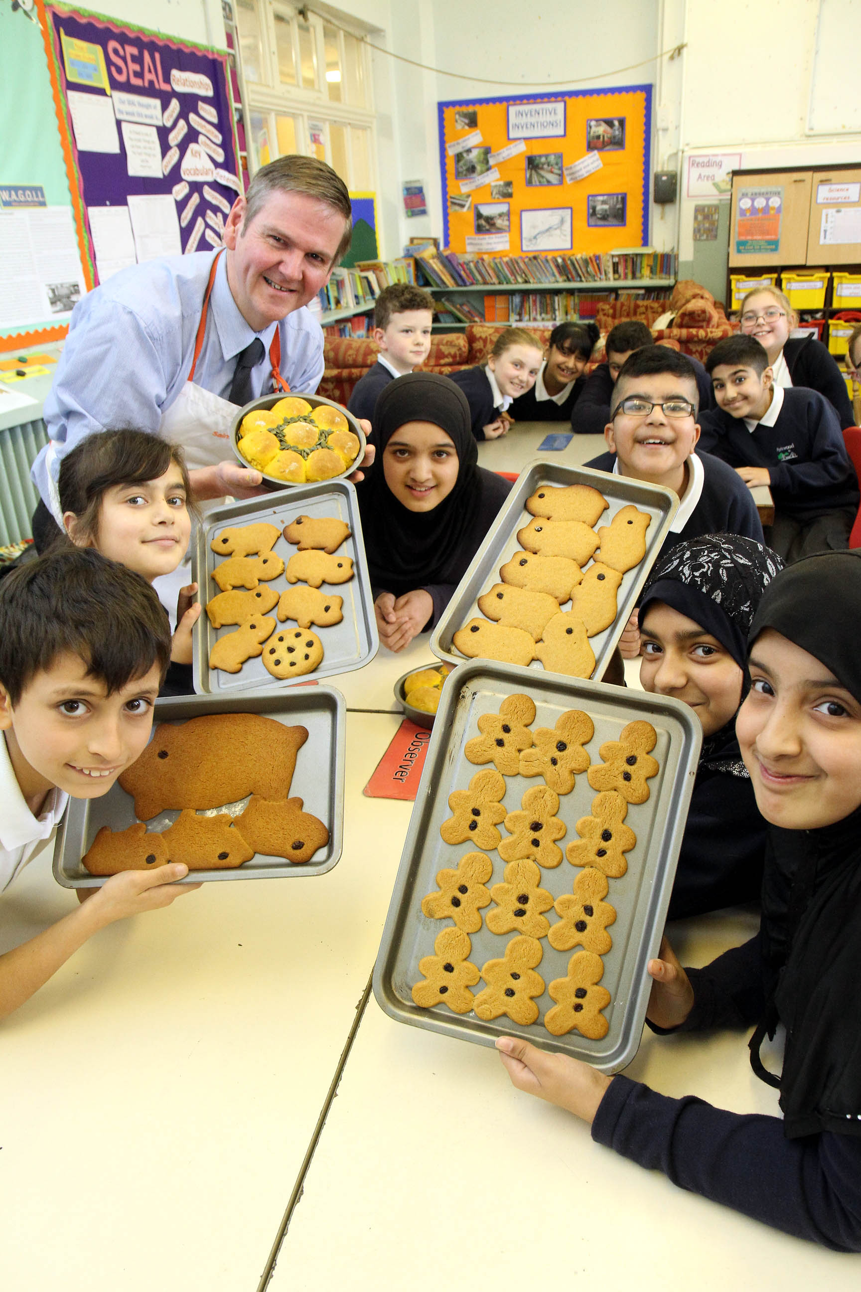 baker mike is a hit at keighley u0026 39 s parkwood school