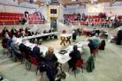 The scene at the planning meeting held at Skipton Auction Mart