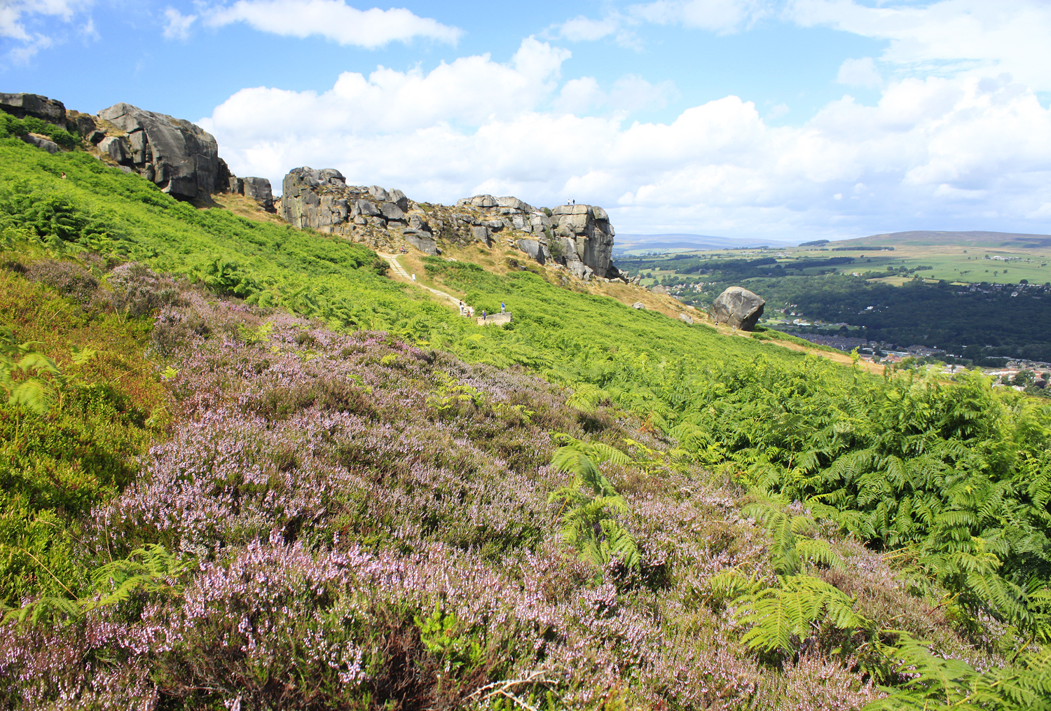 Bradford Telegraph and Argus: The Cow and Calf Rocks on Ilkley Moor, commanding spectacular views