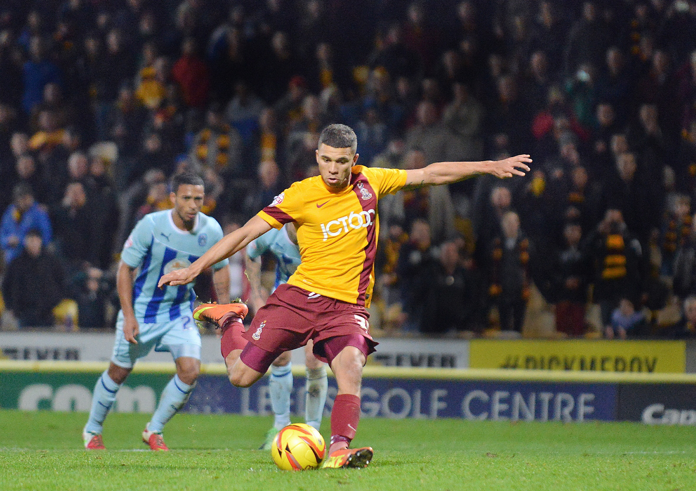 Nahki Wells prepares to fire home City's late penalty equaliser