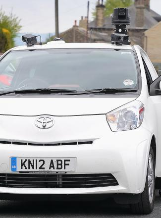 Bradford Council's CCTV 'spy' car with its roof-mounted camera