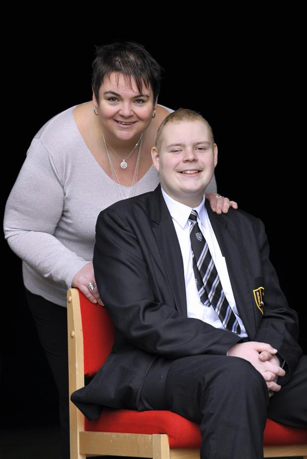 Bradford Telegraph and Argus: Connor Lancaster with mum Julie