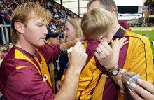 "Julian Rhodes will hope the emotional pull of coming ""home"" to Bradford will persuade Stuart McCall to become City's new manager in the summer"