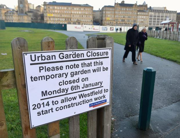 Bradford Urban Garden is about to be closed as work on the Broadway shopping sentre begins