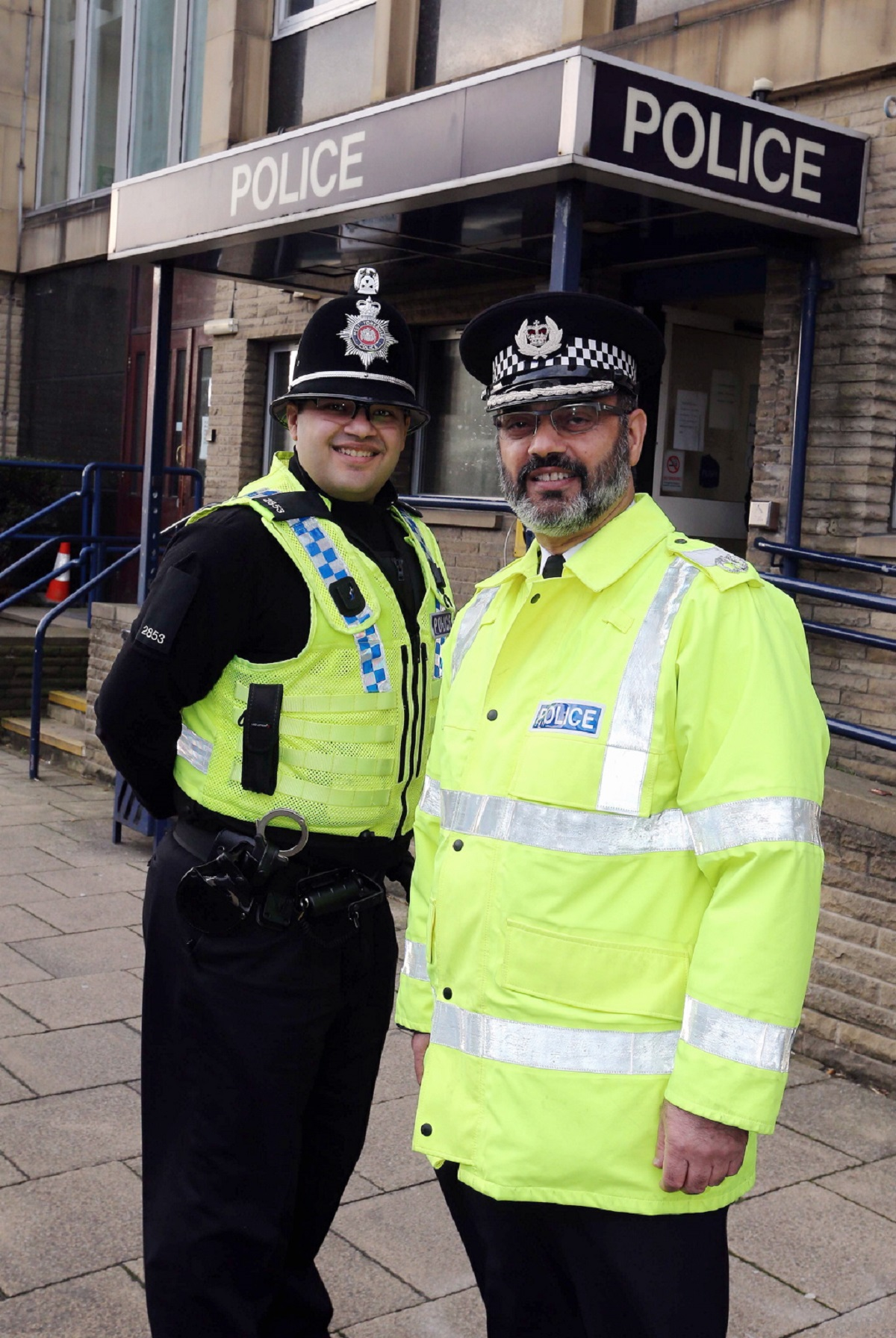 Retiring Deputy Chief Constable of West Yorkshire Jawaid Akhtar goes on patrol with his son PC Mohsin Akhtar