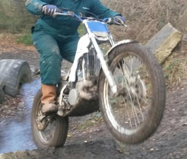 A trials bike similar to the ones stolen