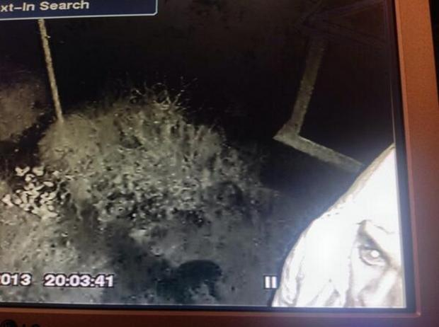 One of the suspects on CCTV