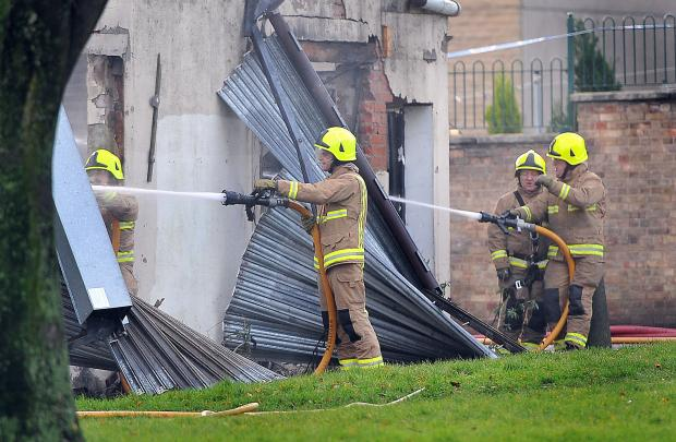 Bradford Telegraph and Argus: UPDATE: Houses evacuated after second blaze in a week at Keighley club
