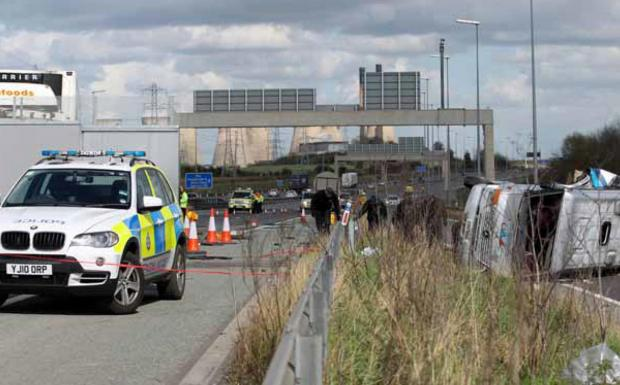 Bradford man charged over M62 hen party death crash