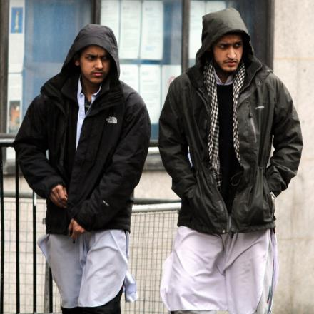 Mohammed Saeed Ahmed (left) and Muhammed Naeem Ahmed, leaving the Old Bailey after a previous hearing