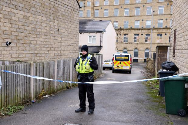 A police cordon set up after Saturday's shooting incident
