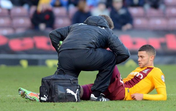 Bradford Telegraph and Argus: Nahki Wells is still suffering from a hamstring injury - but boss Phil Parkinson admits the player is not in the right state of mind to play due to constant transfer speculation