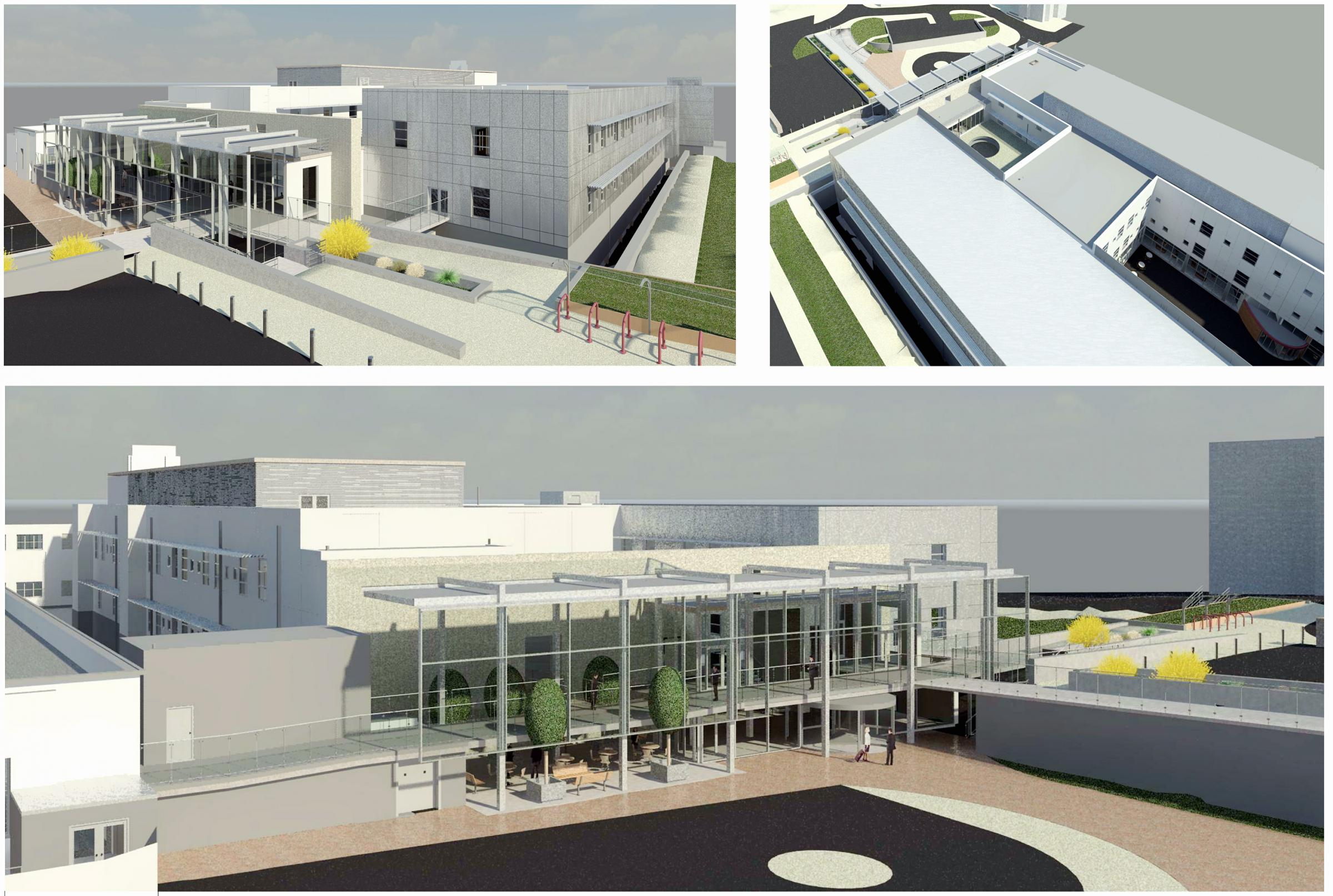 An artist's impressions of the new block at Bradford Royal Infirmary