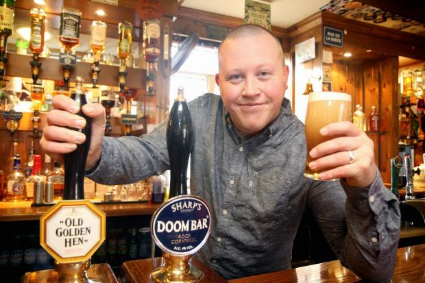 Jonthan Butterfield of the New Inn, Wilsden, who features in a CAMRA campaign poster
