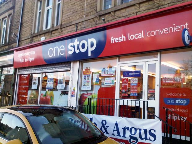 The One Stop convenience store in Bradford Road, Shipley