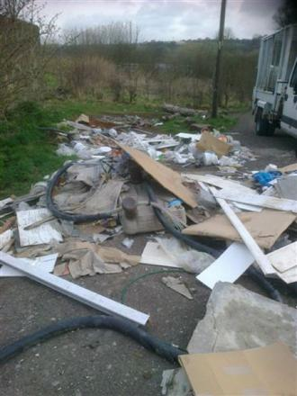 The fly-tipped waste