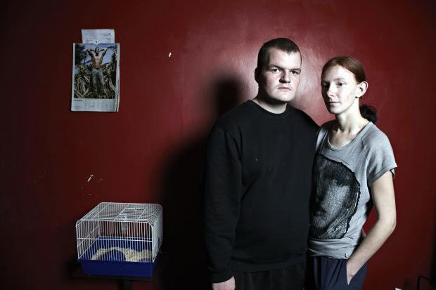 Mark Thomas and Becky Howe, both 23, who featured in Benefits Street on Channel 4