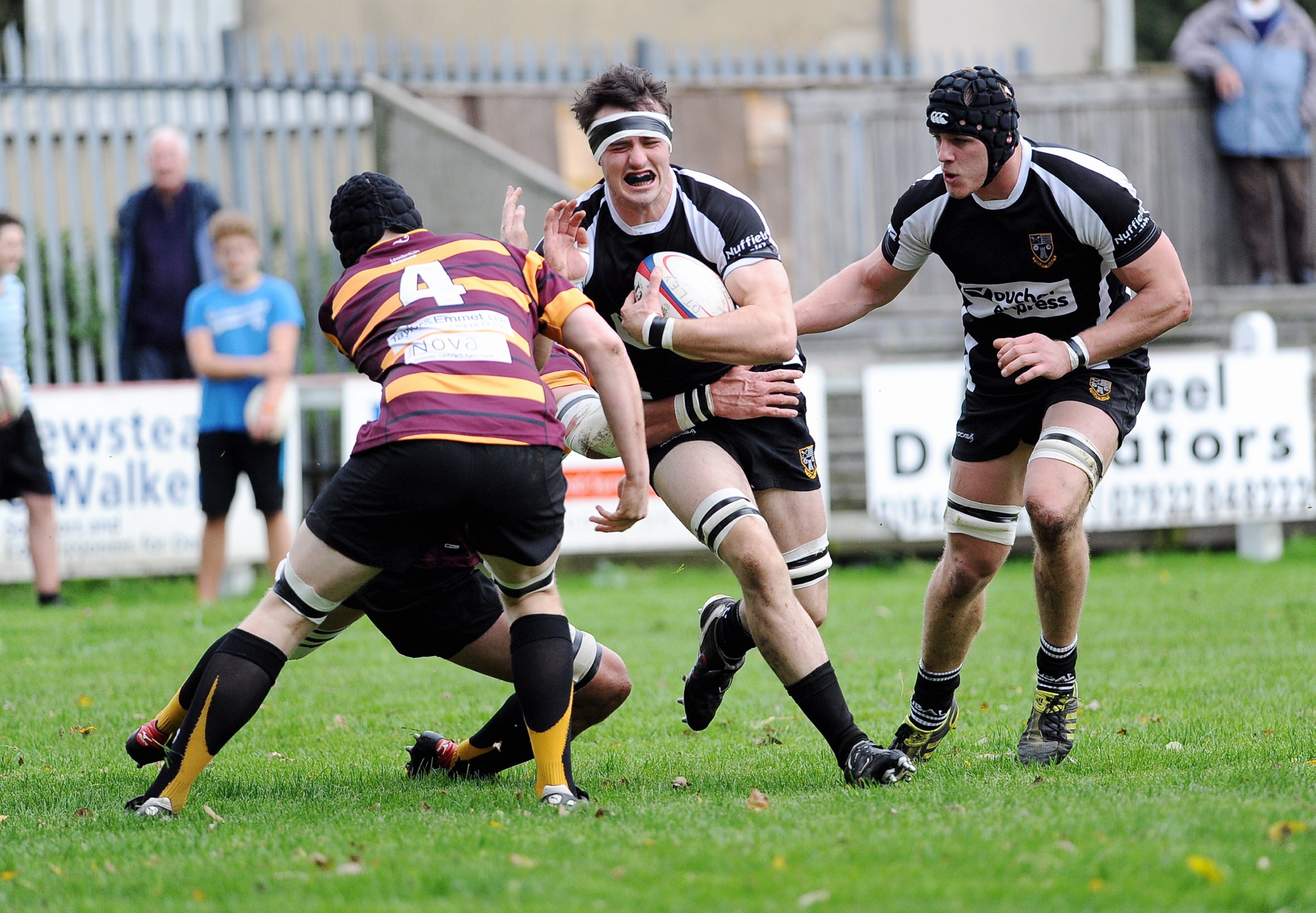 Dan Temm shows his determination while playing in Otley colours