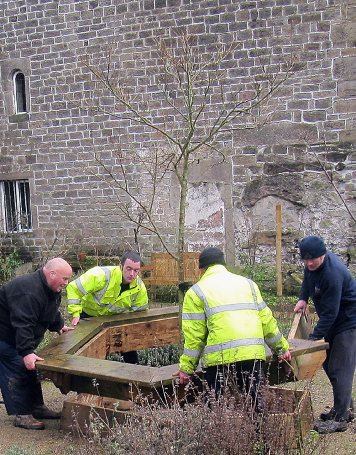 Wooden planters from Urban Garden in Bradford get new home as Westfield work continues