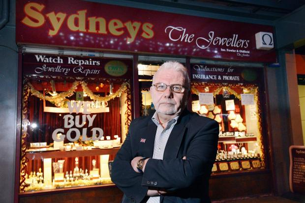 Bradford Telegraph and Argus: Jeff Frankel outside his shop