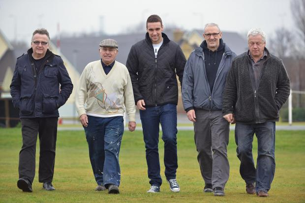 Bradford Telegraph and Argus: From left, Kevin Mitchell, Keith Johnstone, Joe Robinson, Mark Robinson and Dave Worrall