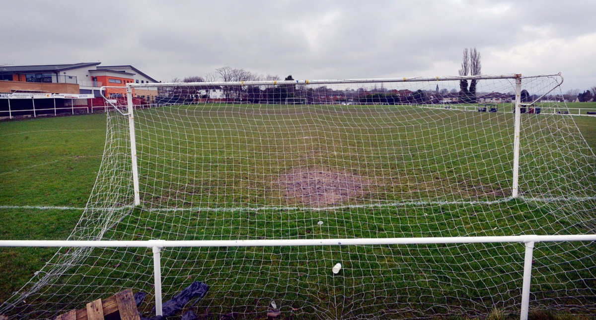 The Scotchman Road pitch cuts a sorry picture as Campion's match against Steeton was one of those to be called of