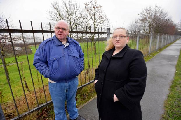 Bradford Telegraph and Argus: Local residents Ian Morton and Jacqueline Horvath at the proposed site