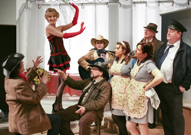 The cast of Bus Stop at Keighley Playhouse this weekend
