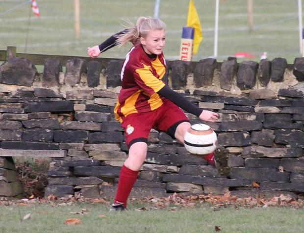 Annie Nicol was a goalscorer for Bradford City A team in their win over Norristhorpe