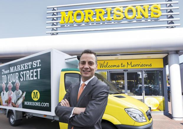 Dalton Philips with a Morrisons.com delivery