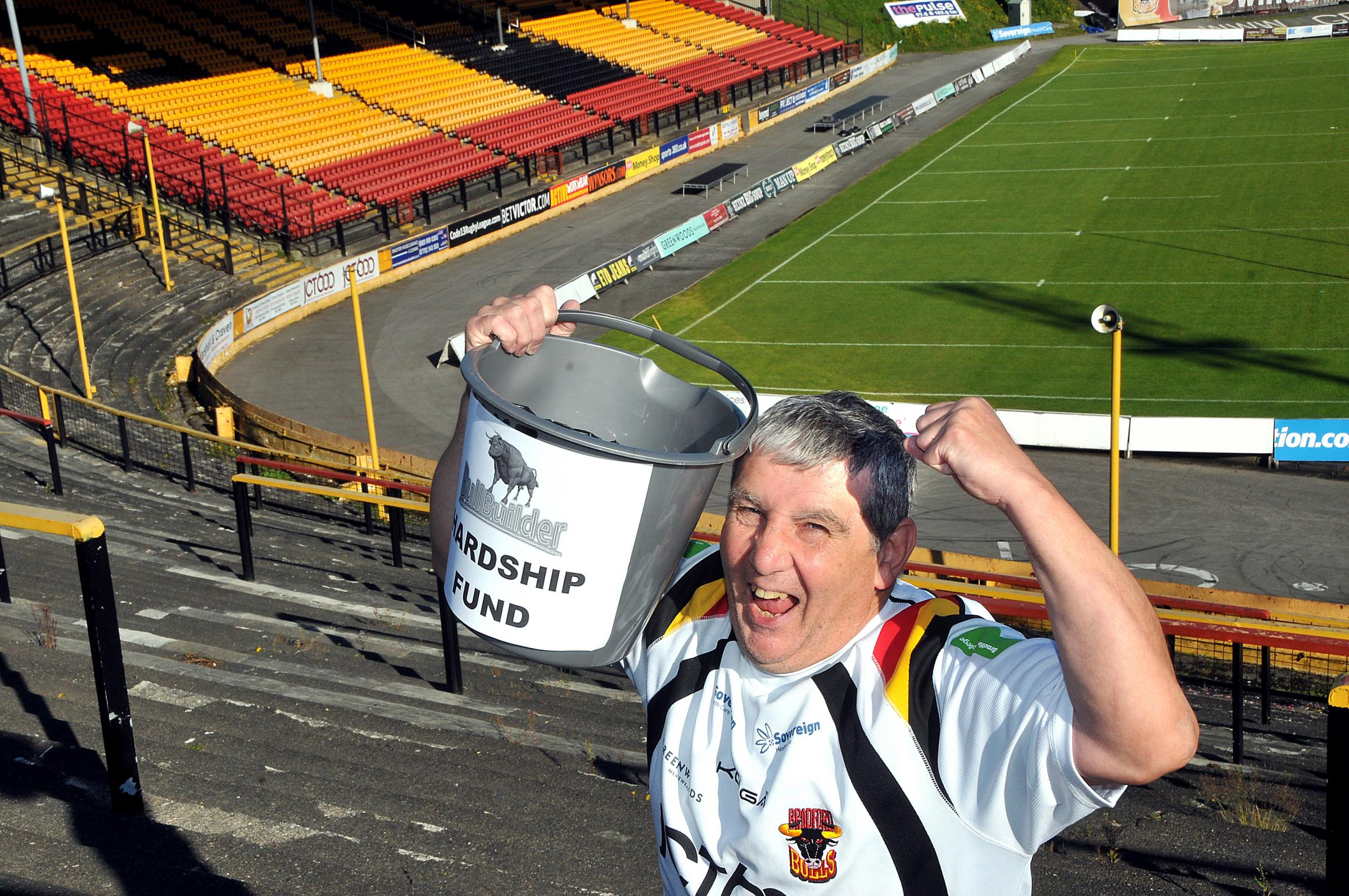 Paul Butterworth helped to collect money for BullBuilder's hardship fund, which was a huge success