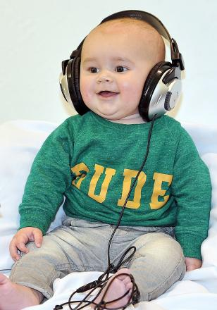 four-month-old Jacob Egan has his photo