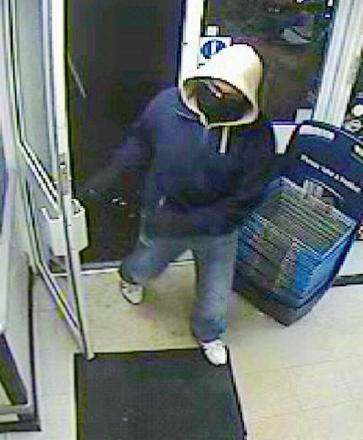 A CCTV image of the robber
