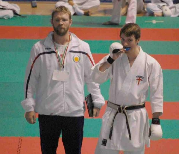Matt Price, left, is delighted that karate has won such recognition when in competition with more mainstream sports