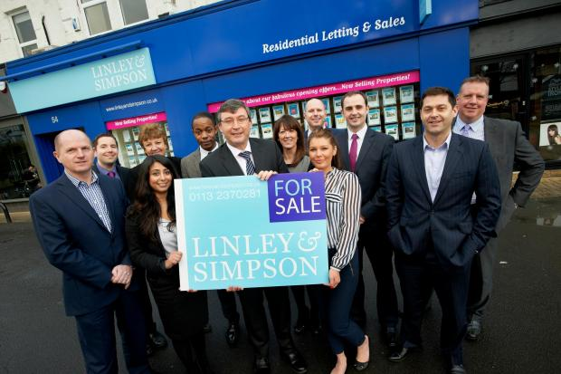 Mark Christopher (centre), head of residential sales at Linley & Simpson, marks the launch of the new venture with founding director Will Linley (left) and Nick Simpson (second right)